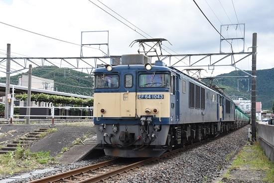 2020年7月12日撮影 大場遅延の西線貨物5875レ 塩尻駅発車