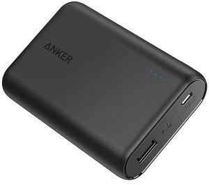 Anker PowerCore 10000 (10000mAh 最小最軽量 大容量 モバイルバッテリー)【PSE認証済/PowerIQ搭載】 iPhone&Android対応 2020年4月時点 (ブラック)