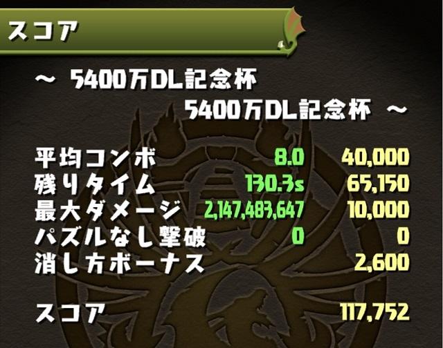 5400万DL記念杯