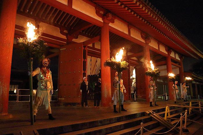 薬師寺 花会式 神供と鬼追い式3