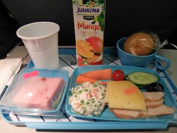 スペイン中東483エジプト航空機内食