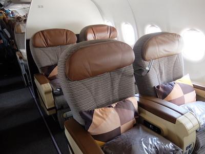スペイン中東535エティハド航空ビジネス