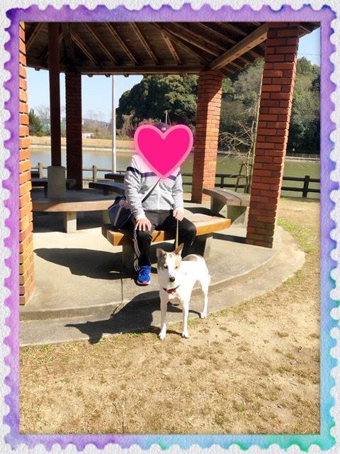 暖かい日にパパと公園へお散歩です💕