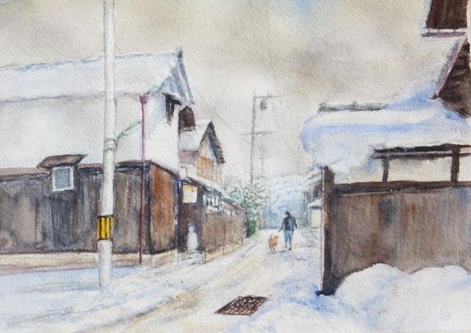 滋賀県虎姫町 雪景色