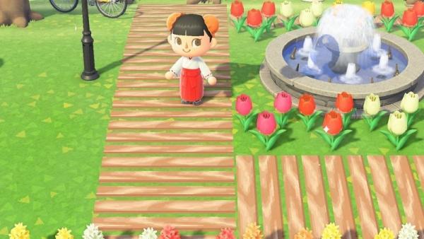 【作品ID】あつ森 地面マイデザイン『枕木の道』【あつまれどうぶつの森ID】