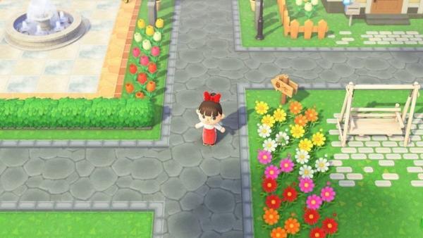 【作品ID】あつ森 地面マイデザイン『石畳の枠』【石ただみ&アーチタイルの道用】