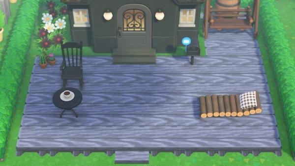【作品ID】あつ森 マイデザイン『漆黒ウッドデッキ』(黒いウッドテラス)【Animal Crossing Designs】
