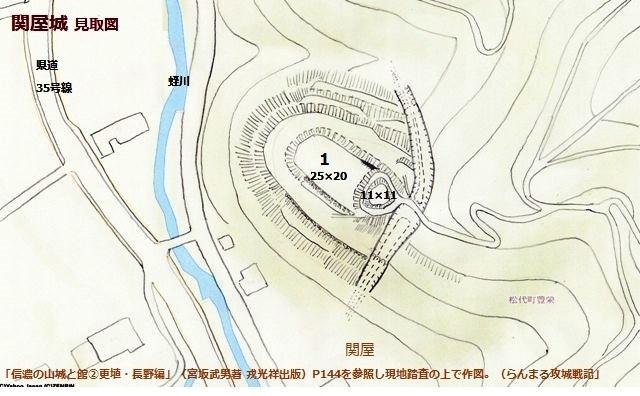 関屋城見取図①