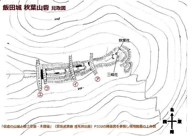 飯田城秋葉山砦見取図①