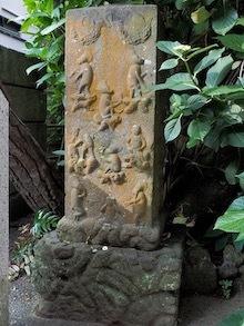 12江ノ島群猿奉賽像庚申塔のコピー