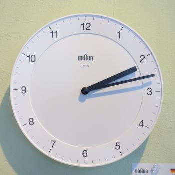 ブラウン 掛時計 ホワイト