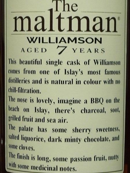 The Maltman WILLIAMSON 2012 7yo_ura600