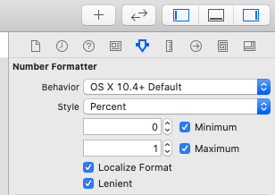 Number Formatterの設定画面