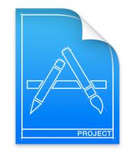 Xcodeのプロジェクトファイルのアイコン