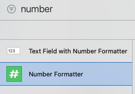 Number Formatterの追加方法