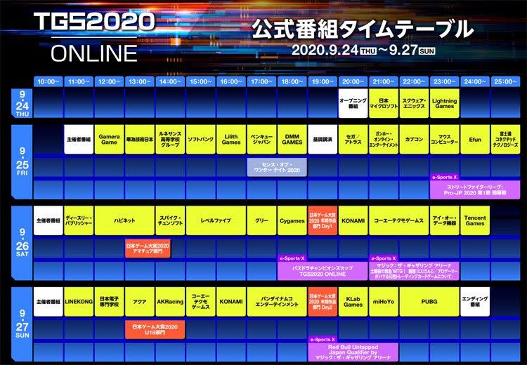 TGS2020 online 東京ゲームショウ2020 オンライン