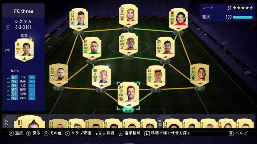FIFA21 Swirch版 FUT
