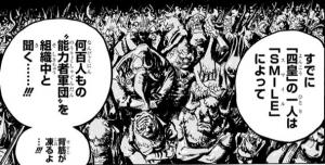 ある四皇はSMILEによって能力者軍団を組織中と聞く