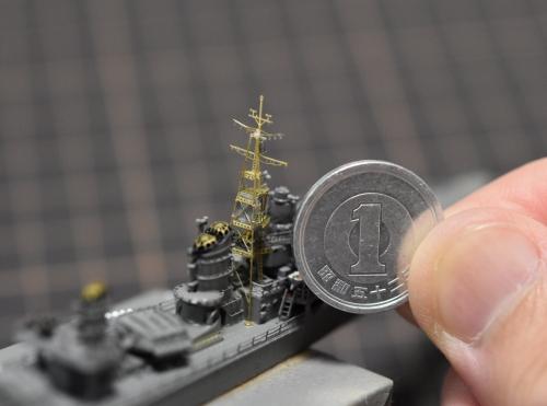 駆逐艦 『島風』 前マスト 製作②EXxRzFMUcAA-5JE◆模型製作工房 聖蹟