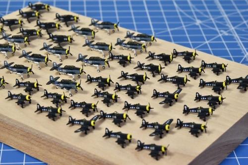 米航空母艦「バンカーヒル」 艦上機製作中 機体番号貼り付けEgddD3XVoAEMZl5◆模型製作工房 聖蹟