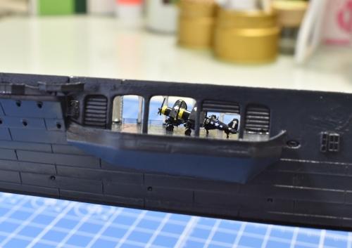 米航空母艦「バンカーヒル」 製作中 格納庫 コルセア取り付け EhGrp4cU4AAK9Sd◆模型製作工房 聖蹟