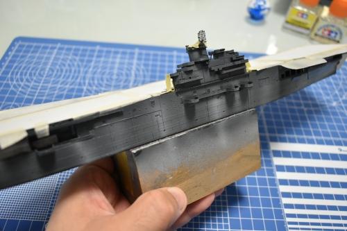 米航空母艦「バンカーヒル」製作中 日焼け、色褪せ感DSC_0680◆模型製作工房 聖蹟