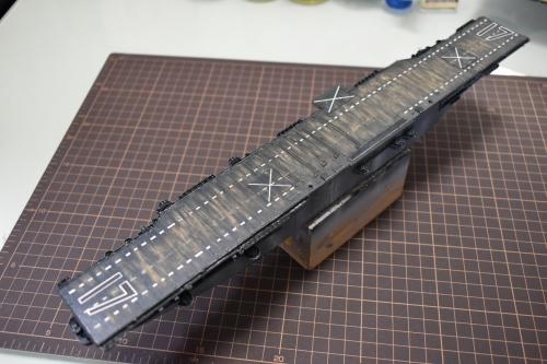 米航空母艦「バンカーヒル」(1945年2~3月頃)製作中 艦橋設置前DSC_0769◆模型製作工房 聖蹟