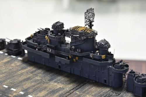 米航空母艦「バンカーヒル」(1945年2~3月頃)艦橋製作中 DSC_0913◆模型製作工房 聖蹟