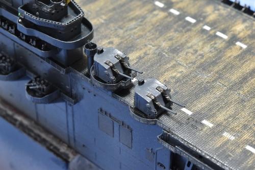 米航空母艦「バンカーヒル」(1945年2~3月頃)製作中 5インチ連装砲設置DSC_0868◆模型製作工房 聖蹟