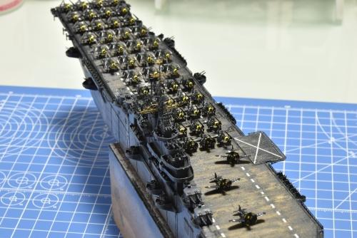 米航空母艦 バンカーヒル(1945年2~3月頃)艦上機設置完了 DSC_1125◆模型製作工房 聖蹟