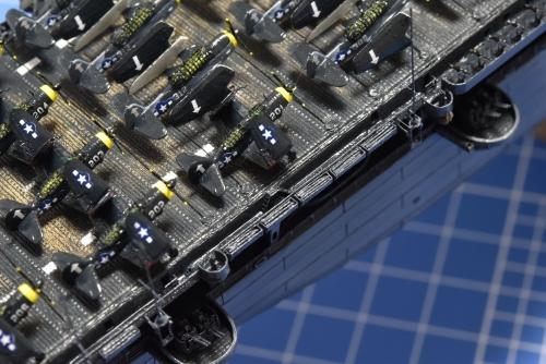 米航空母艦 バンカーヒル(1945年2~3月頃)フローターズネット搭載 DSC_1183◆模型製作工房 聖蹟