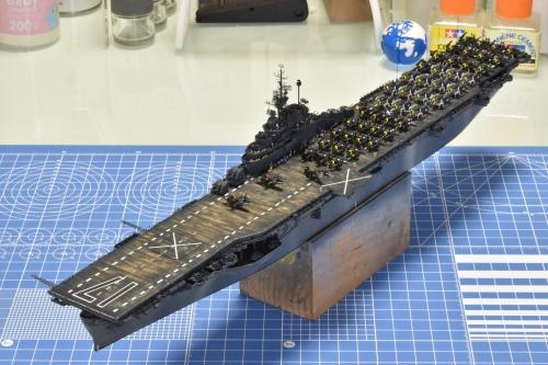 米航空母艦「バンカーヒル」(1945年2~3月頃)ウェザリング開始します! DSC_0396◆模型製作工房 聖蹟