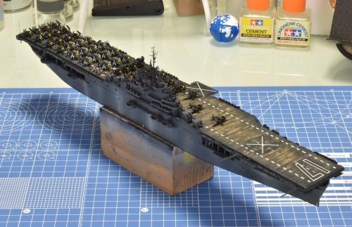 米航空母艦「バンカーヒル」(1945年2~3月頃)ウェザリング開始します! DSC_E0391◆模型製作工房 聖蹟