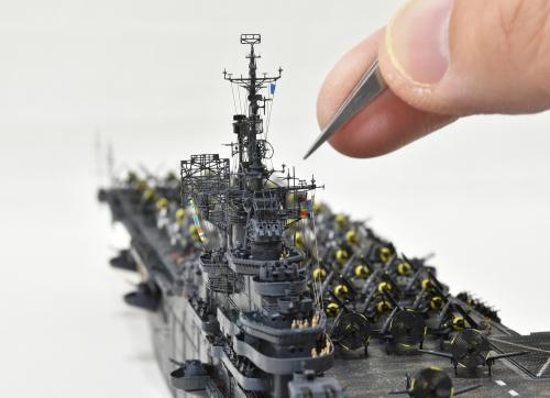 米航空母艦「バンカーヒル」(1945年2~3月頃)完成DSC_0477-1-8-3-2500◆模型製作工房 聖蹟