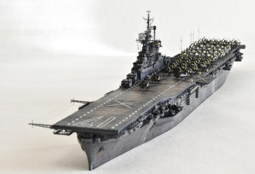米航空母艦「バンカーヒル」(1945年2~3月頃)完成DSC_0162-1-3-2500◆模型製作工房 聖蹟