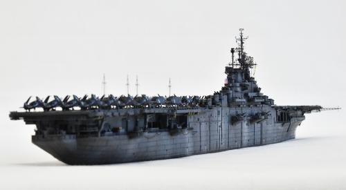 米航空母艦「バンカーヒル」(1945年2~3月頃)完成DSC_0190-1-2-2500◆模型製作工房 聖蹟