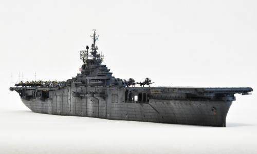 米航空母艦「バンカーヒル」(1945年2~3月頃)完成DSC_0193-1-2-2500◆模型製作工房 聖蹟