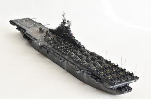 米航空母艦「バンカーヒル」(1945年2~3月頃)完成DSC_0443-1-2-2500◆模型製作工房 聖蹟