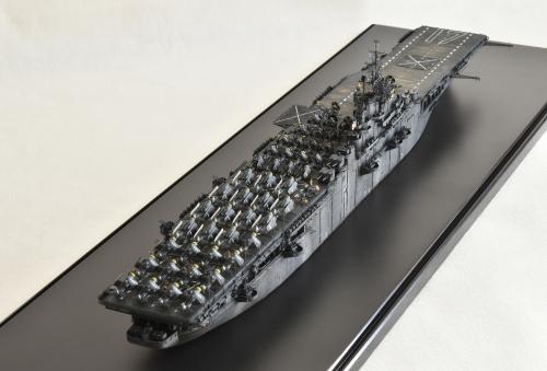 米航空母艦「バンカーヒル」(1945年2~3月頃)完成DSC_1005-1-2-3-2500◆模型製作工房 聖蹟