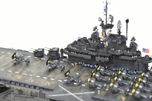 米航空母艦「バンカーヒル」(1945年2~3月頃)完成DSC_0230-1-2500◆模型製作工房 聖蹟