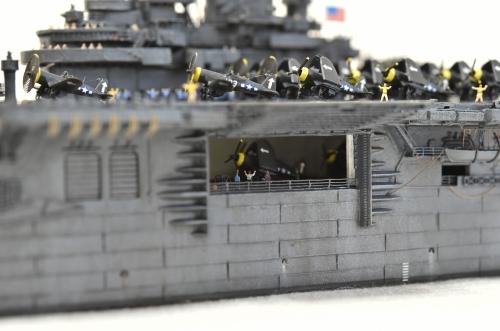 米航空母艦「バンカーヒル」(1945年2~3月頃)完成DSC_0310-1-2-2500◆模型製作工房 聖蹟