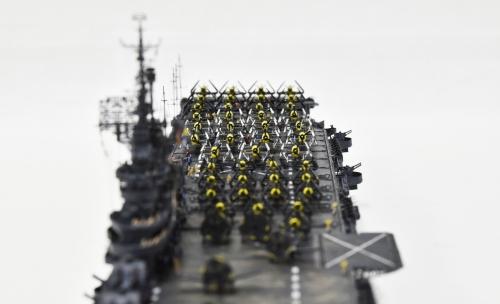 米航空母艦「バンカーヒル」(1945年2~3月頃)完成DSC_0379-1-2-2500◆模型製作工房 聖蹟
