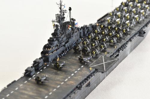 米航空母艦「バンカーヒル」(1945年2~3月頃)完成DSC_0924-1-2-2500◆模型製作工房 聖蹟