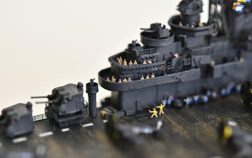 米航空母艦「バンカーヒル」(1945年2~3月頃)完成DSC_0986-1-3-2500◆模型製作工房 聖蹟