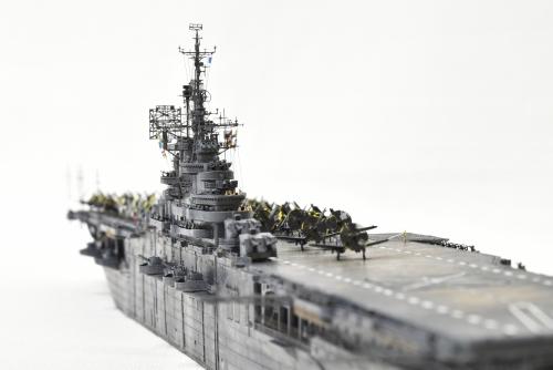 米航空母艦「バンカーヒル」(1945年2~3月頃)完成DSC_05442-1-2500◆模型製作工房 聖蹟