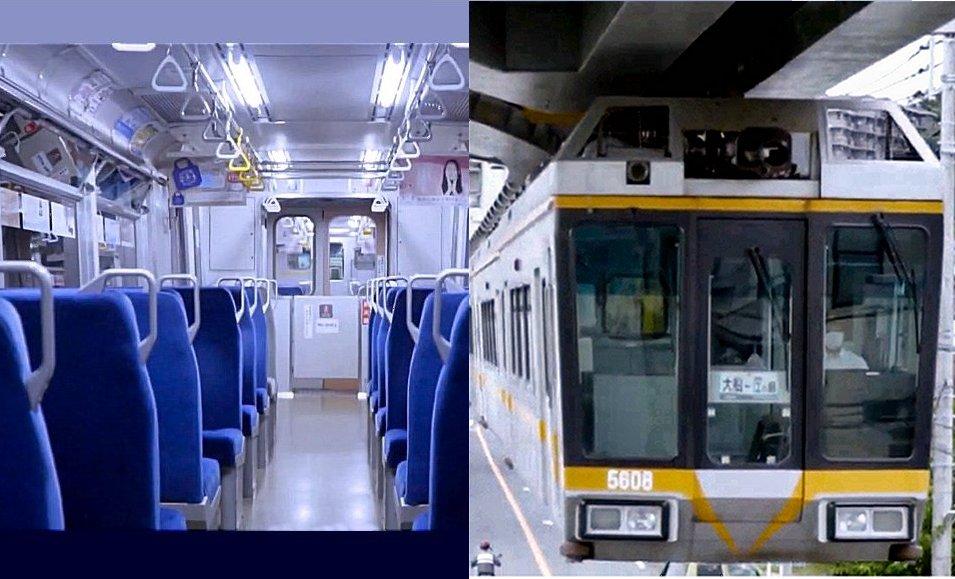 抗ウイルス、抗菌コーティング加工を実施した湘南モノレール5000系車内