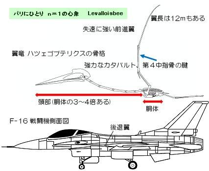 翼竜とF16