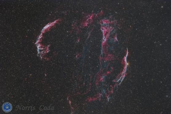 網状星雲(Veil Nebula) The last modified Ⅰ