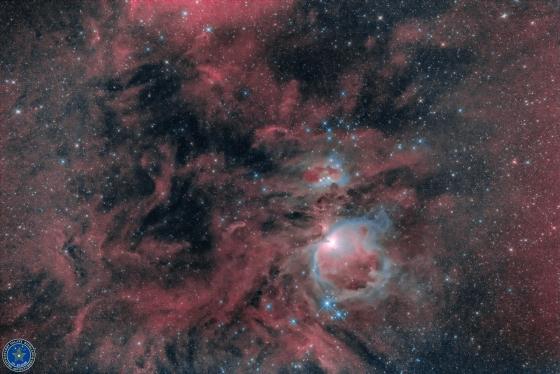 オリオン大星雲(M42)付近の分子雲