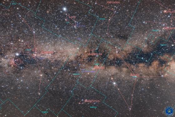 天の川銀河と夏の大三角star_map